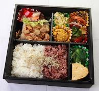 http://www.agri-obanzai.com/塩分2g以下の減塩弁当 【魚のアーモンドムニエル】